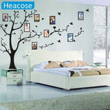 Large Size 200*260Cm Colorful Diy Photo Vinyl Wall Stickers Tree For Living Room Bedroom Mural Art