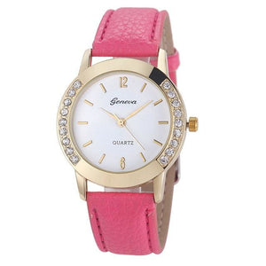 Luxury Dress Clock Female Brand Ladies Watch Diamond Analog Leather Band Quartz Wrist Watches Women