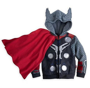 Lzh 2017 Autumn Winter Avengers Iron Man Boys Jacket For Boys Spiderman Hooded Jacket Kids Warm Brown / 3T