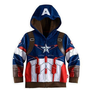 Lzh 2017 Autumn Winter Avengers Iron Man Boys Jacket For Boys Spiderman Hooded Jacket Kids Warm