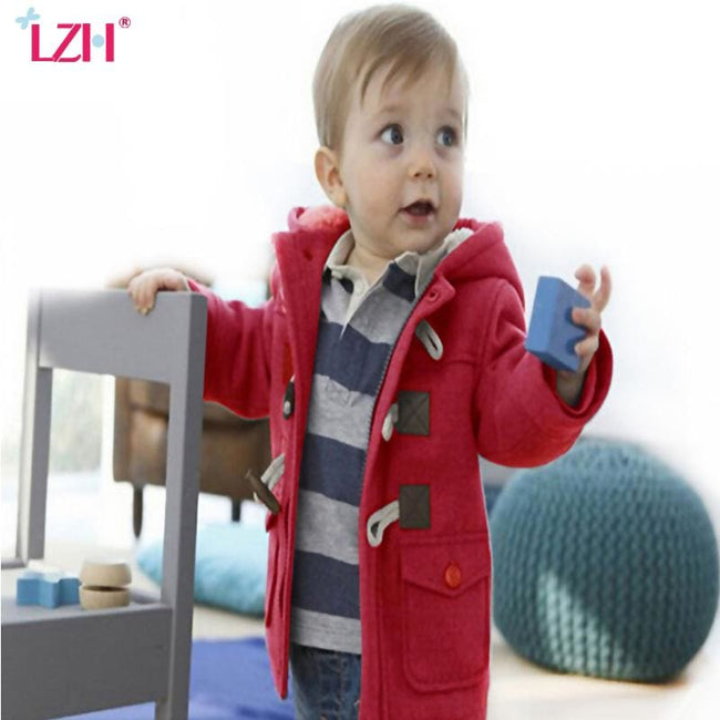 LZH Baby Boys Jacket 2017 Autumn Winter Jacket For Boys Coats Children Warm Hooded Outerwear Coat - MBMCITY