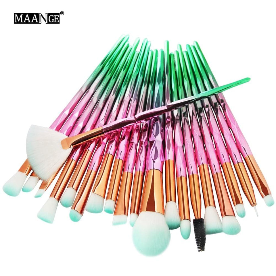 MAANGE 7-20Pcs Diamond Makeup Brushes Set Powder Foundation Blush Blending Eye shadow Lip Cosmetic