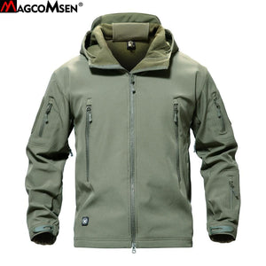 MAGCOMSEN Shark Skin Military Jacket Men Softshell Waterpoof Camo Clothes Tactical Camouflage Army - MBMCITY