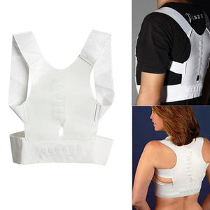 Magnetic Back Shoulder Posture Corrector Back Support Straighten Out Brace Belt Orthopaedic