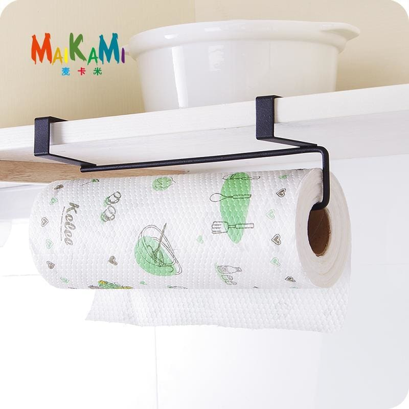 MAIKAMI New Iron Kitchen Tissue Holder Hanging Bathroom Toilet Roll Paper Holder Towel Rack Kitchen