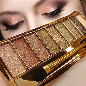 Makeup 9 Colors Diamond Bright Eyeshadow Nude Smoky Palette Cosmetics Set Maquillage Make Up With