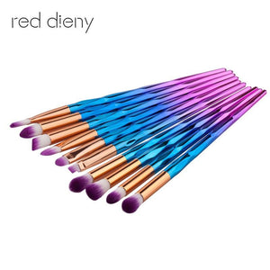 Makeup Brush Rainbow Makeup Brushes Set 10pcs Rhinestone Tools Pro Powder Foundation Eye Lip - MBMCITY