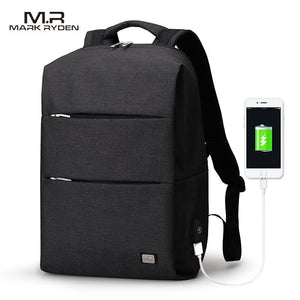 MarkRyden New Arrivals Men Backpack For 15.6inches Laptop Backpack Large Capacity Casual Style Bag.