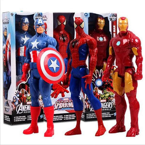 Marvel Amazing Ultimate Spiderman Captain America Iron Man Pvc Action Figure Collectible Model Toy