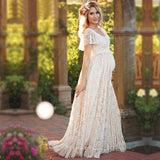 Maternity Dress Maternity Photography Props White Lace Sexy Maxi Dress Elegant Pregnancy Photo Shoot