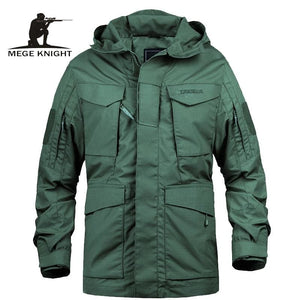 Mege Brand M65 Military Camouflage Male clothing US Army Tactical Men's Windbreaker Hoodie Field