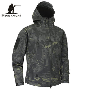 Mege Shark Skin Soft Shell Military Tactical Jacket Men Waterproof Army Fleece Clothing Multicam