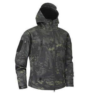 Mege Shark Skin Soft Shell Military Tactical Jacket Men Waterproof Army Fleece Clothing Multicam - MBMCITY