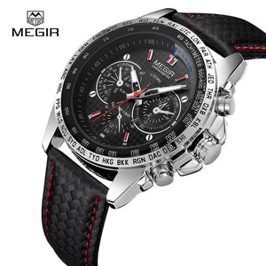 MEGIR Mens Watches Top Brand Luxury Quartz Watch Men Fashion Casual Luminous Waterproof Clock