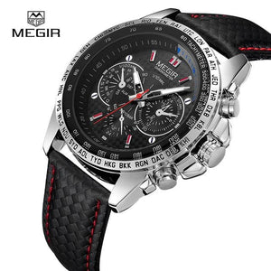 MEGIR Mens Watches Top Brand Luxury Quartz Watch Men Fashion Casual Luminous Waterproof Clock White