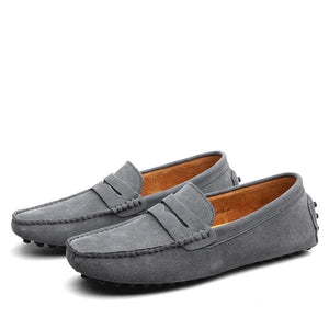 Men Casual Shoes 2017 Fashion Men Shoes Leather Men Loafers Moccasins Slip On Mens Flats Loafers Dark Blue / 11