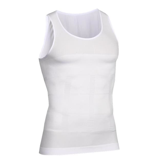 Men Chest Shaper Bodybuilding Slimming Belly Abdomen Tummy Fat Burn Posture Corrector Compression N84 White / M