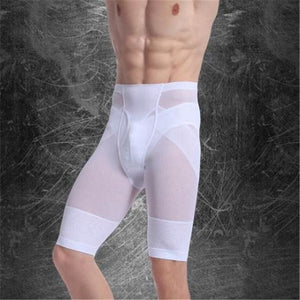 Men Chest Shaper Bodybuilding Slimming Belly Abdomen Tummy Fat Burn Posture Corrector Compression N25 White / M