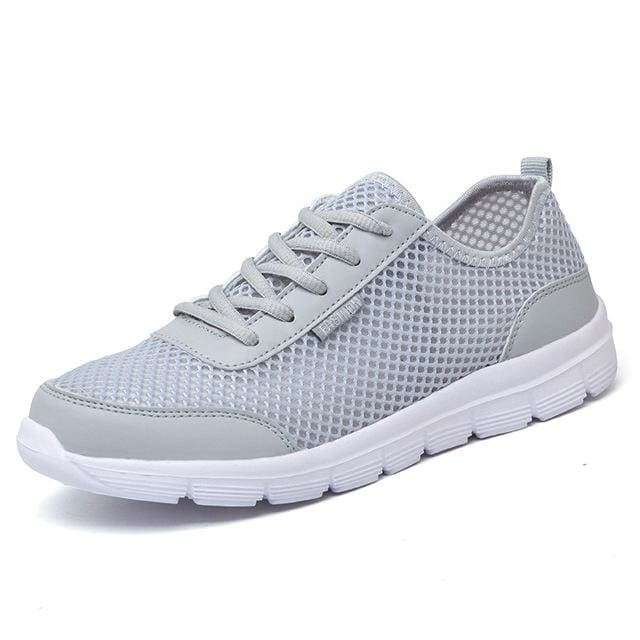 Men Shoes 2017 Summer Fashion Breathable Men Casual Shoes Lace Up High Quality Flat Mesh Shoes Plus
