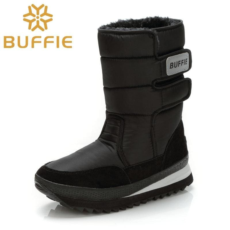 Men Shoes Winter Boots Shoe Solid Black Snow Boots Plus Size 36 To Big 47 Brand Style Warm Male