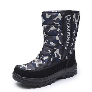 Men snow boots camouflage platform men winter shoes high quality warm non-slip waterproof boots for