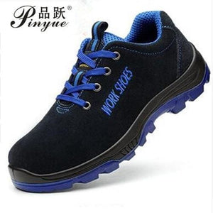 Men Work Safety Shoes Steel Toe Warm Breathable Men's Casual Boots Puncture Proof Labor Insurance - MBMCITY