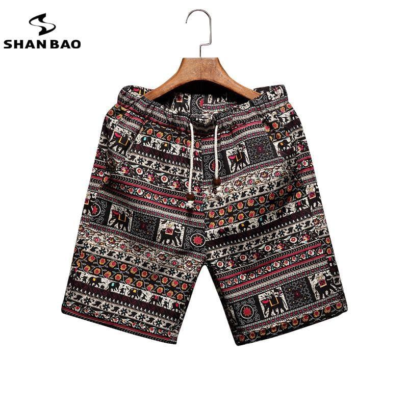 Men's beach shorts personality printing 2017 summer thin section breathable comfort casual men's.