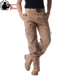 Mens Cargo pants Male Tactical Pant Military Casual Jogger Camo Multi Pocket Trouser Camouflage Army