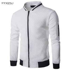 Men's Hoodie 2018 Male Brand Casual Zipper Jacket Stand-Neck Sudaderas Hombre High-Grade Sweatshirt