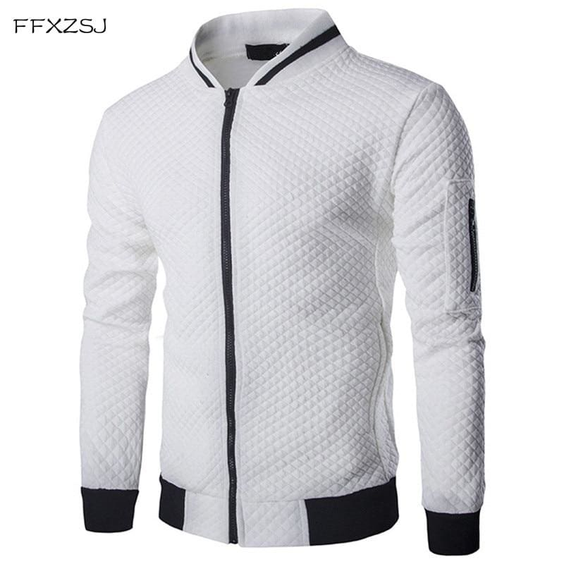 Mens Hoodie 2018 Male Brand Casual Zipper Jacket Stand-Neck Sudaderas Hombre High-Grade Sweatshirt