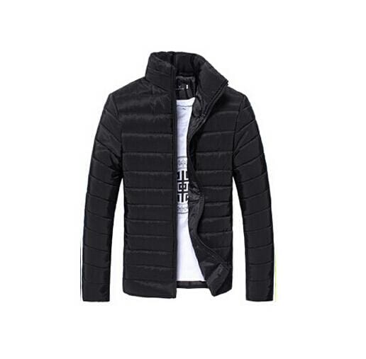Mens Jackets And Coats Casual Jacket Men Clothes Cotton Denim Jacket Solid Zipper Coat Men Bomber Black / M