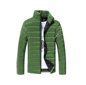 Mens Jackets And Coats Casual Jacket Men Clothes Cotton Denim Jacket Solid Zipper Coat Men Bomber Green / M