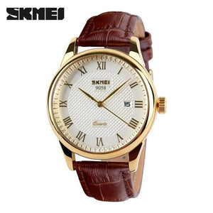 Mens Watches Top Brand Luxury Quartz Watch Skmei Fashion Casual Business Wristwatches Waterproof.