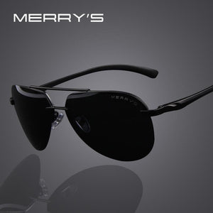 MERRY'S Brand Men 100% Polarized Aluminum Alloy Frame Sunglasses Fashion Men's Driving Sunglasses