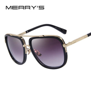 Merrys Fashion Men Sunglasses Classic Women Brand Designer Metal Square Sun Glasses Uv400