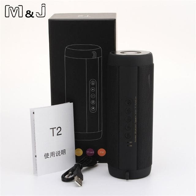 M&j Wireless Best Bluetooth Speaker Waterproof Portable Outdoor Mini Column Box Loudspeaker Speaker Russian Federation / Black