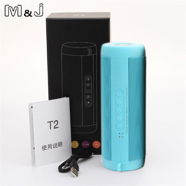 M&j Wireless Best Bluetooth Speaker Waterproof Portable Outdoor Mini Column Box Loudspeaker Speaker Russian Federation / Blue