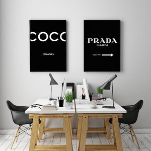 Modern Letter Canvas Painting Black and White A4 Posters and Prints Wall Art Pictures For Living - MBMCITY