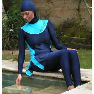 Modest Full Cover Muslim Swimwear Plus Size Female Swimsuit Beach Bathing Suit Burkinis for Muslim - MBMCITY