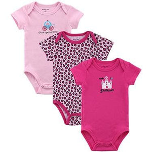 Mother Nest 3 PCS/lot Baby Romper Girl Boy Short Sleeve Leopard Print Summer Clothing Set for - MBMCITY