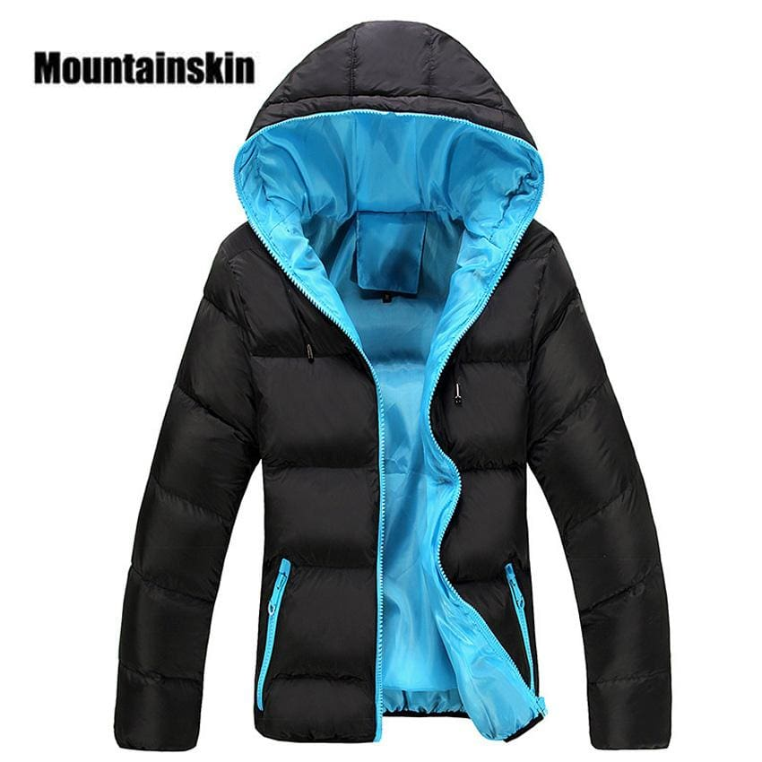 Mountainskin 5XL Men Winter Casual New Hooded Thick Padded Jacket Zipper Slim Men And Women Coats.