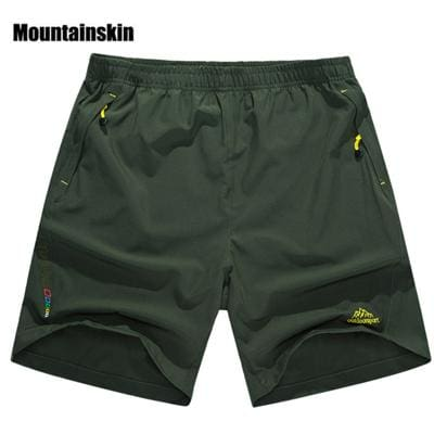 Mountainskin Summer Mens Quick Dry Shorts 8XL 2017 Casual Men Beach Shorts Breathable Trouser Male Army Green / L
