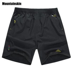 Mountainskin Summer Mens Quick Dry Shorts 8XL 2017 Casual Men Beach Shorts Breathable Trouser Male Black / L