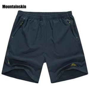 Mountainskin Summer Mens Quick Dry Shorts 8XL 2017 Casual Men Beach Shorts Breathable Trouser Male Dark Grey / L