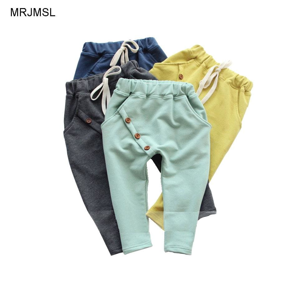 MRJMSL Hot selling size90~130 kids child 2017 clothes children pants for boys trousers girls harem - MBMCITY