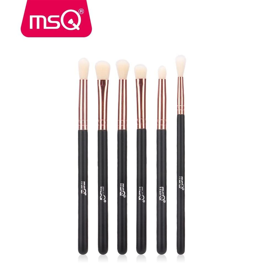 Msq Eyeshadow Brush Set 6Pcs Makeup Brushes For Eye Eyeliner Blend Cosmetics Soft Synthetic Hair