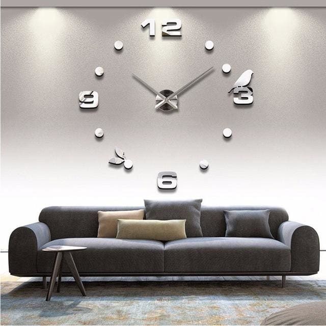 Muhsein Factory 2018 New Modern DIY Black Cat Bird Quartz Wall Clocks Home Decor Orologio Muro - MBMCITY