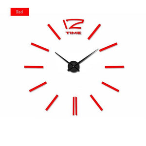 muhsein Home Decoration Big Mirror Wall Clock Modern Design 3D DIY Large Decorative Wall Clocks - MBMCITY