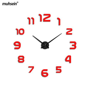 muhsein new clock watch Wall Clock diy wall clocks Acrylic mirror  Home Decoration Living Room - MBMCITY