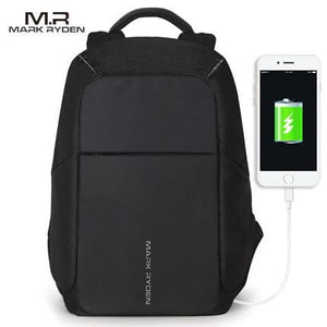 Multifunction Usb Charging Men 15Inch Laptop Backpacks For Teenager Fashion Male Mochila Leisure Black Usb / China / 15Inches